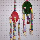 SPRING LOADED bird toy parts 4 parrots cages perches