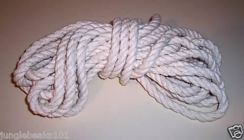 """600' 1/2"""" Supreme Cotton rope bird toy parts parrots"""