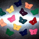8 SML Colored Leather Butterflies bird toy parts parrots