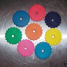 8 Colored Leather Conchos bird toy parts parrots cages crafts horses