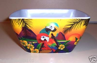 4 Matching Parrot Bowls birds household parties toys