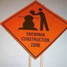 SNOWMAN CONSTRUCTION Yard Sign toys decorations kids