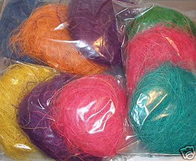 18 Colored Coconut Fibers Patties bird toy parts parrots cages