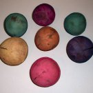 4 Colored Round 1/2 Shells Coconut bird toy part parrot