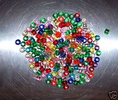 500 Multi Color Pony beads bird toy parts parrots crafts