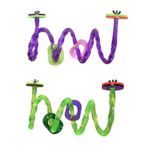 Acrylic  Swirly Purple bird toy parts parrots cages perch