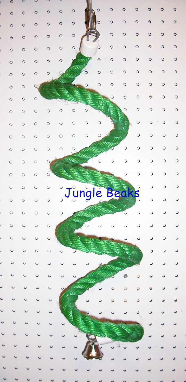 GREEN MED Sisal Rope Boing bird toy parts parrots cages perches