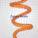ORANGE MED Sisal Rope Boing bird toy parts parrots cages perches