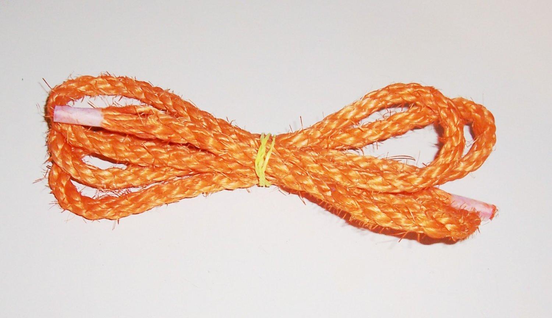 """3/8"""" ORANGE SISAL Rope Unoiled bird toy parts 5' glider"""