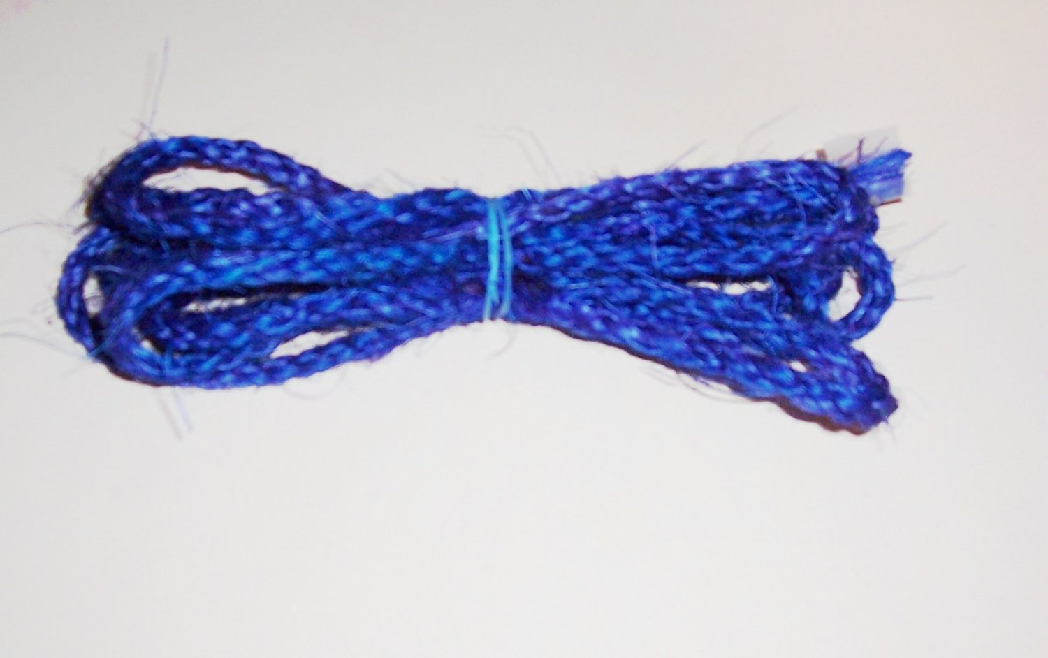 """3/8"""" BLUE SISAL Rope Unoiled bird toy parts 5' glider"""