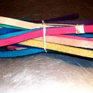 """21 FEET of 1/2"""" Colored leather bird toy parts parrots cages craft"""