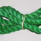 "3/4"" GREEN SISAL Rope Unoiled bird toy parts 5' gliders"