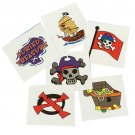 Pirate Temporary Tattoos 36 toys gifts prizes kids loot bags game dress up
