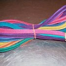 """5/8"""" Colored grooved Leather bird toy part parrot craft"""