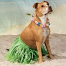 HULA DOGGIE WRAP skirt w/Lei clothes costume boy girl large