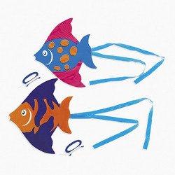 2 FISH KITES toys gifts prizes kids loot bags games