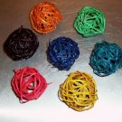 """5 2"""" Colored Twine Balls bird toy parts parrots crafts tiels gliders keets"""