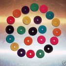 """1"""" Colored Wood Wheels bird toy parts parrots crafts"""