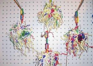 1 FOOTBALL CHEW bird toy parts parrots chins rabbit