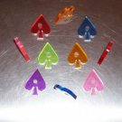 6 Drilled Acrylic SPADES bird toy parts parrots crafts