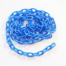 "5' BLUE 3/4"" Plastic Chain bird toy parts parrot cage"