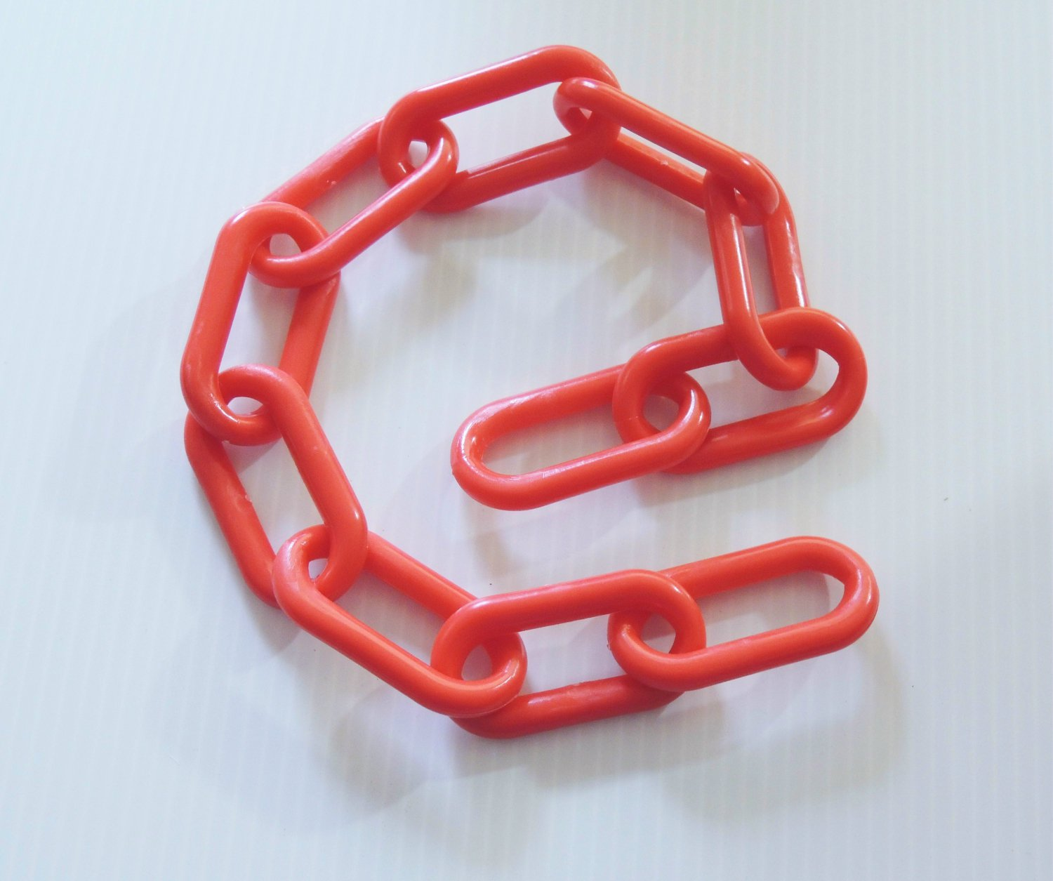 "2' of 3"" RED Plastic Chain bird toy parts parrots cages"