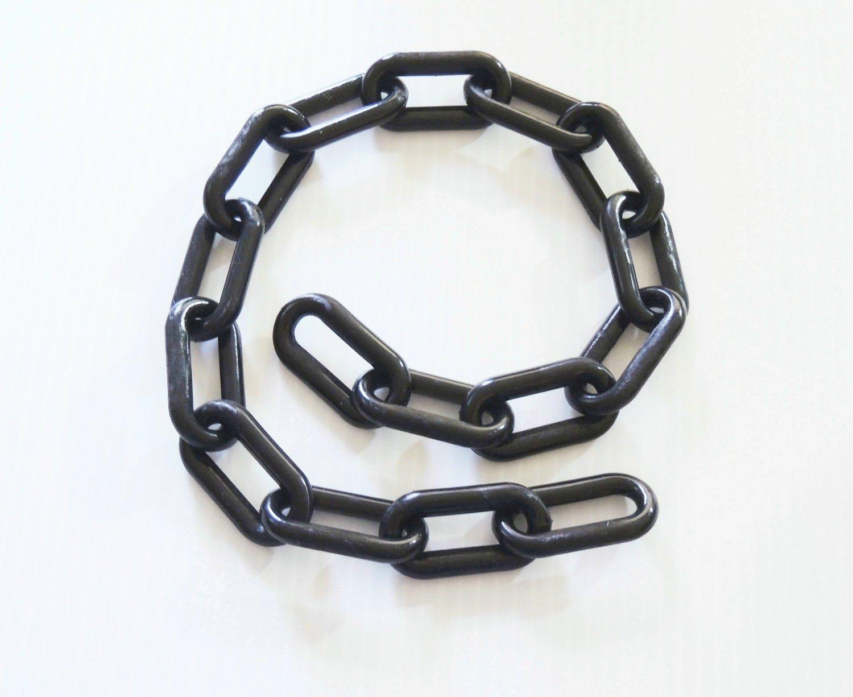 """2' BLACK Plastic Chain 2"""" bird toy parts parrots cages"""