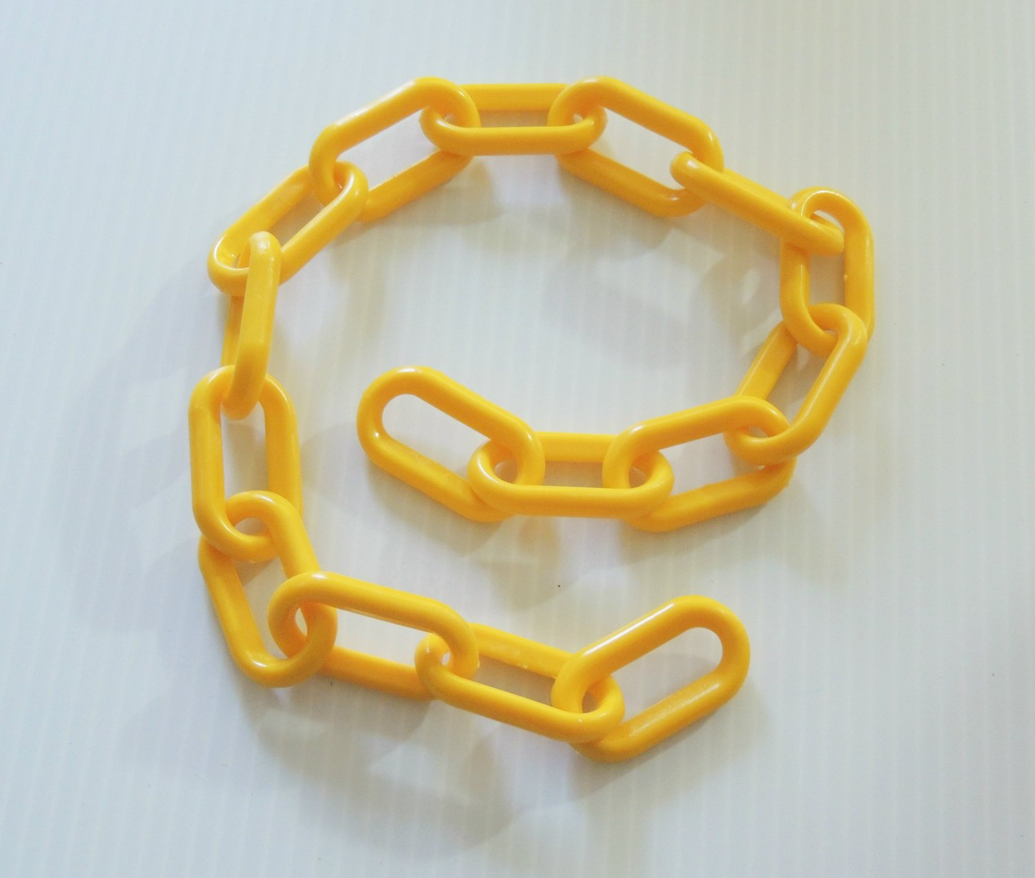 """2' YELLOW Plastic Chain 2"""" bird toy parts parrots cages"""