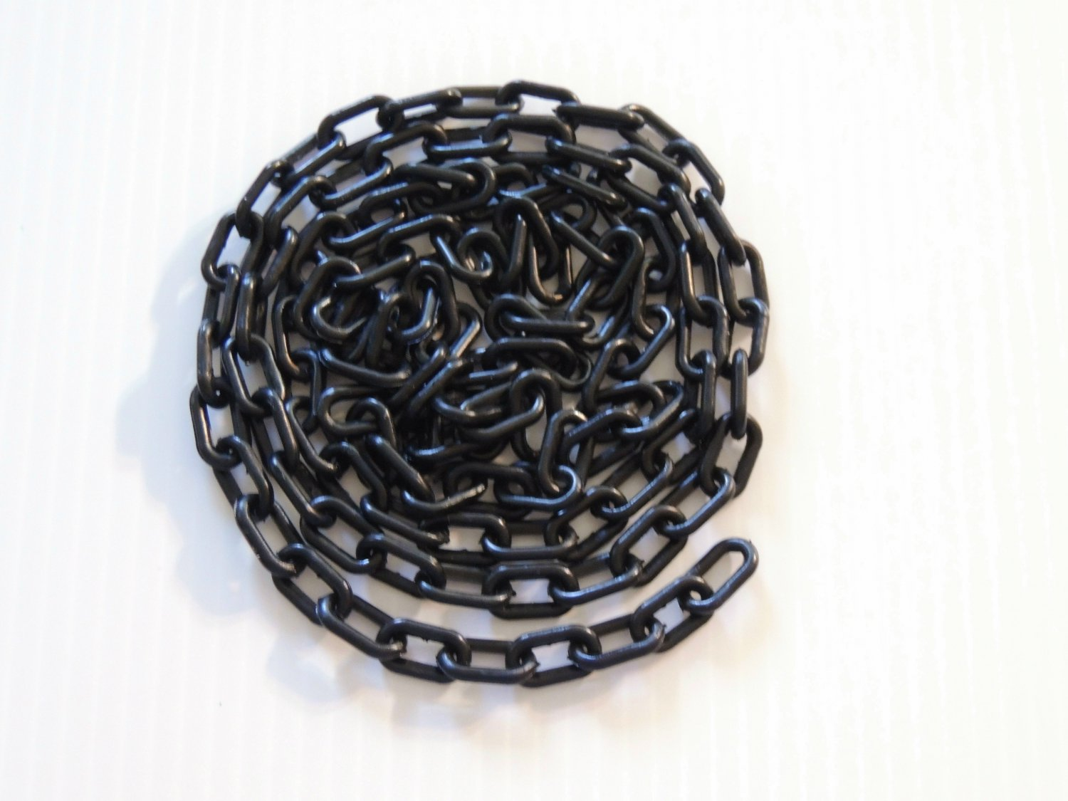 """5' Black 3/4"""" Plastic Chain bird toy parts parrot gliders"""