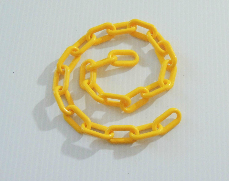 "2' 1.5"" YELLOW Plastic Chain bird toy part parrot monkey"