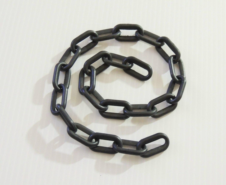 "2' 1.5"" BLACK Plastic Chain bird toy part parrot monkey"