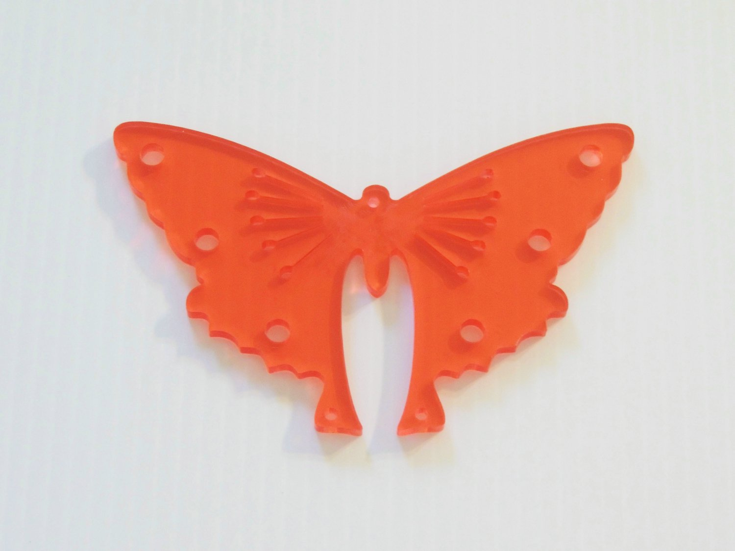 Acrylic Butterfly bird toy RED parts parrots cage crafts amazns grays tiels eclectus