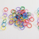 1000 Plastic LOOP RINGS bird toy parts parrots crafts kid