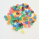 100 CRAZY Shape Rings Solid bird toy parts parrots cage craft