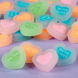 HEART MESSAGE Erasers toys 4 gifts prizes school art