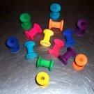25 LONG NECK WOOD SPOOLS bird toy parts parrots crafts