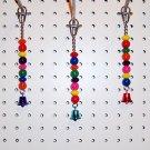 Solid BEAD JINGLER bird toy parakeets parrots cockatiel