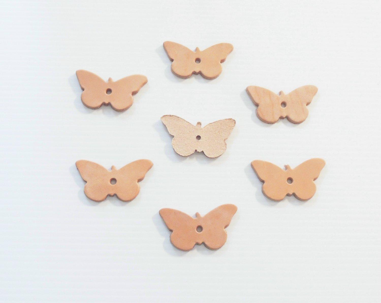 8 Medium Leather Butterflies bird toy parts parrots