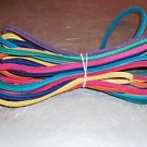 "28 Feet 3/16"" Grooved Colored Leather bird toy parts"