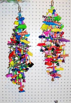 1 TWISTER bird toy parrots amazons grays plastics bells