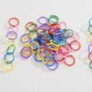 80 Plastic LOOP RINGS bird toy parts parrots crafts kid