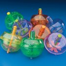 GLITTER SPIN TOPS toys gifts prizes kids loot bag party