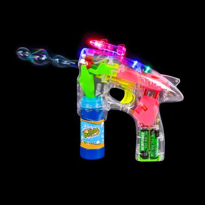 LASERS LIGHTS & SOUND BUBBLE GUN toys gifts prizes kids
