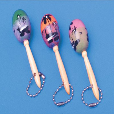 3 MARACA KEY CHAINS toys gifts prizes kids loot bags