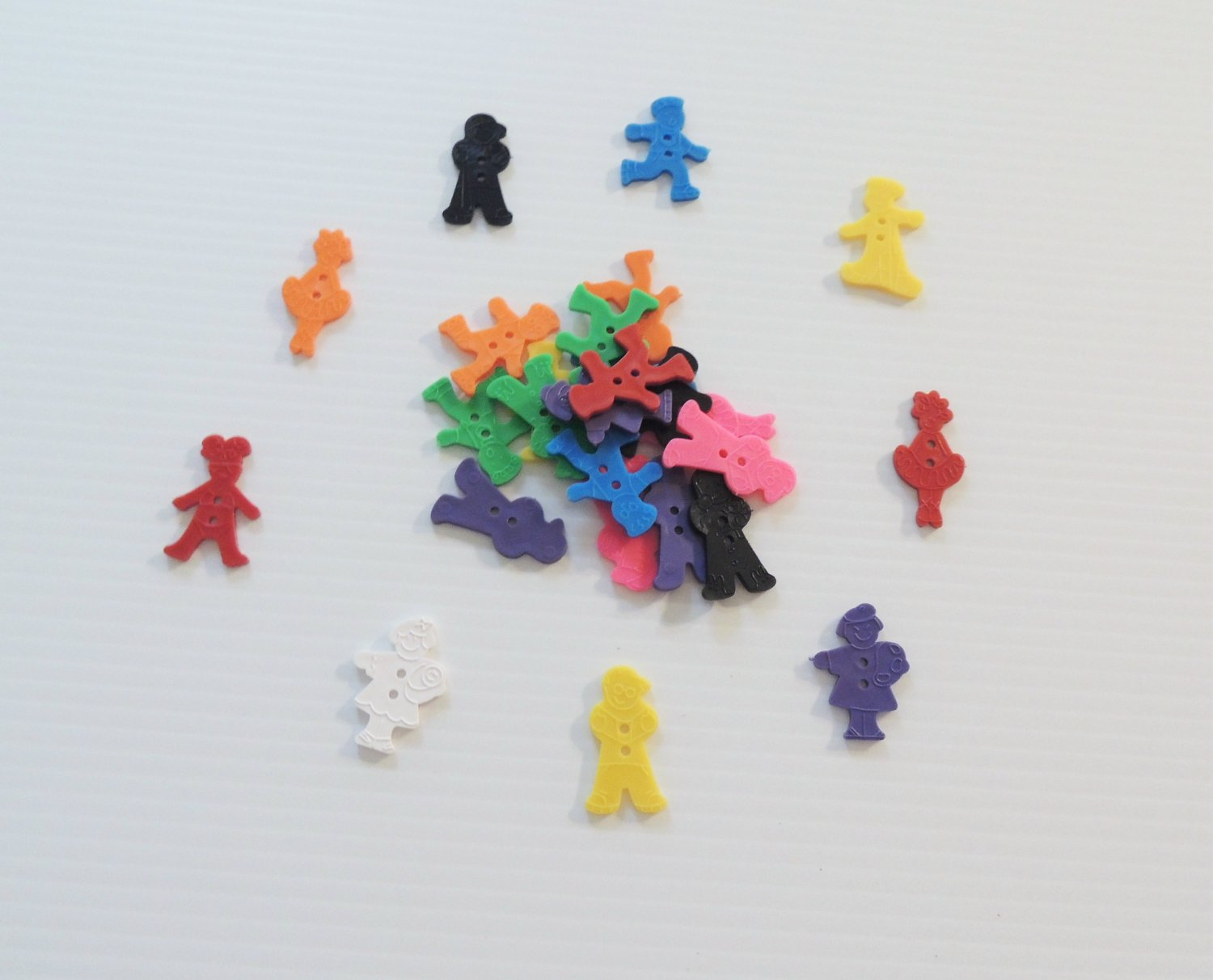 25 People Buttons bird toy parts parrots cages crafts