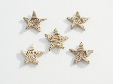 "5 2"" Twine Stars bird toy parts parrots chins crafts"