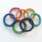 "4.75"" Colored Twine Rings bird toy parts parrot crafts"