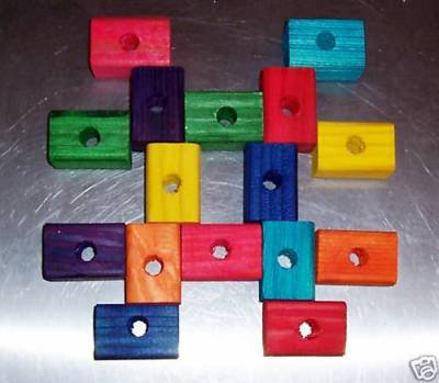 """12 2"""" Colored Wood Blocks bird toy parts parrots cages"""