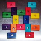 "12 2"" Colored Wood Blocks bird toy parts parrots cages"