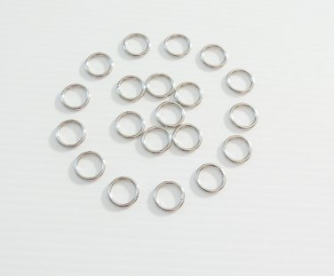 10 STAINLESS STEEL O-RINGS bird toy parts parrots craft